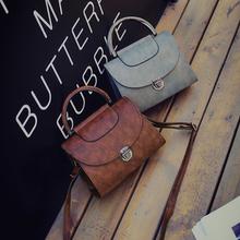 包包2016新款女包秋冬复古手提包韩版单肩斜挎包百搭定型小方包潮