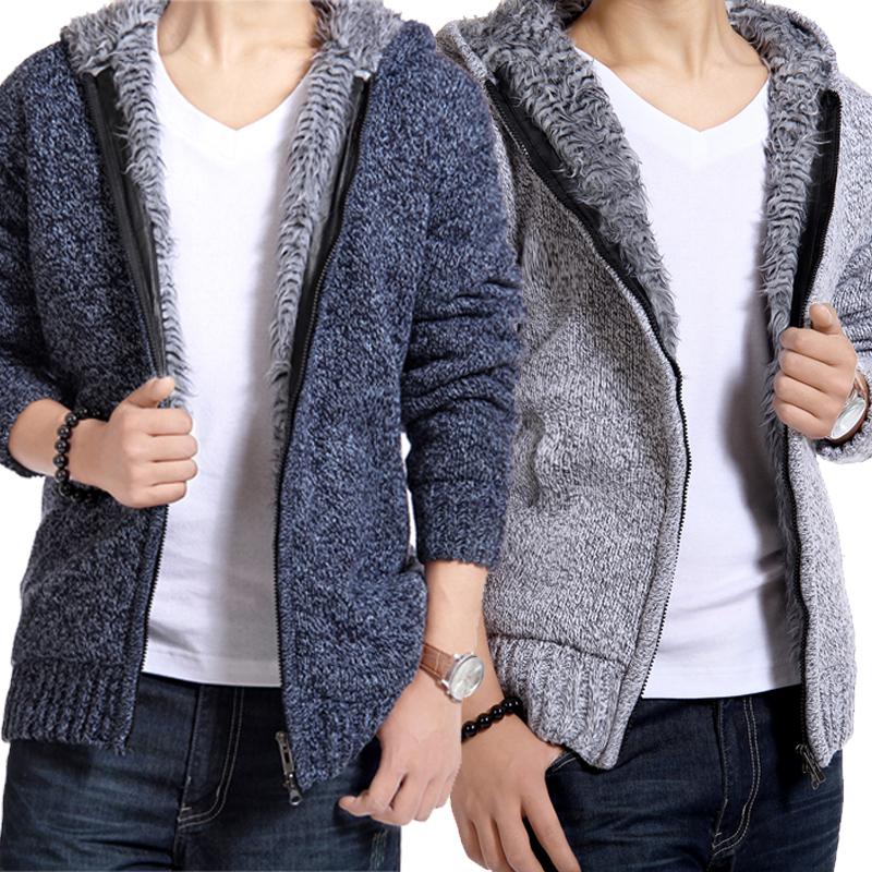 冬季男士棉衣外套韩版青年棉服加绒加厚棉袄男装连帽袄子男冬装衣