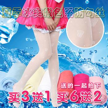夏季超薄女童丝袜连裤袜儿童防勾