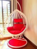 吊椅粗藤摇椅室内外秋千成人单人吊篮鸟巢藤椅双人吊床pe吊椅 新款