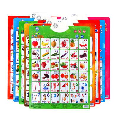 乐乐鱼有声挂图全套凹凸识字卡宝宝发声语音启蒙早教幼儿童玩具