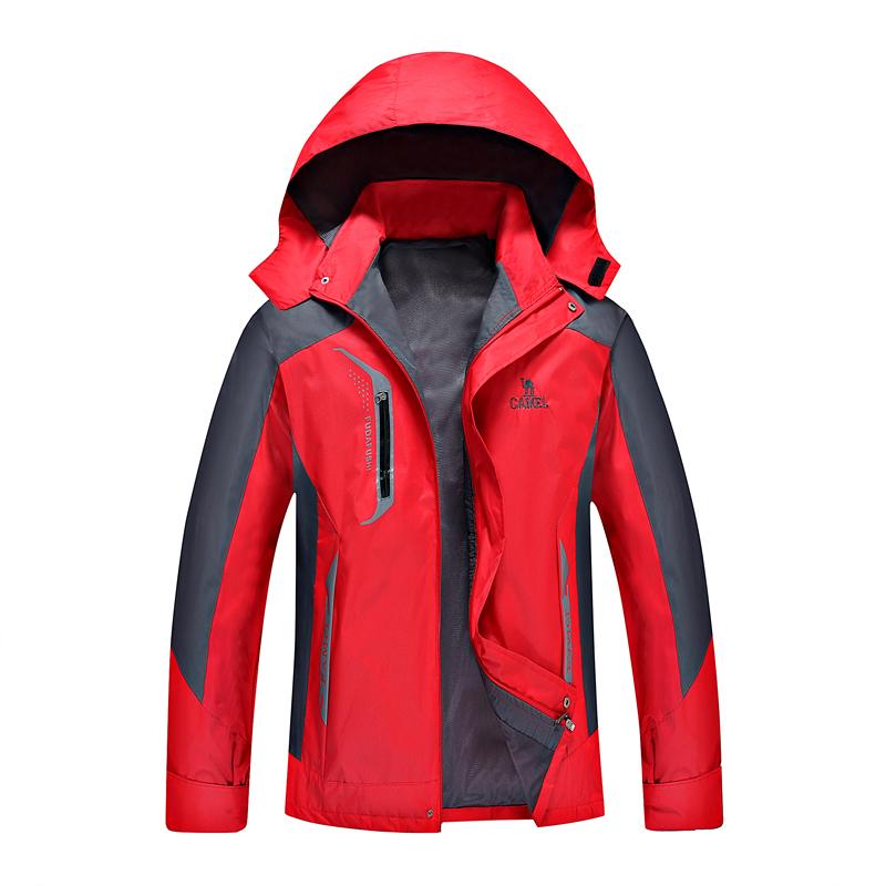 春季男士薄款冲锋衣宽松大码防风防水工作服登山骑行运动风衣男潮