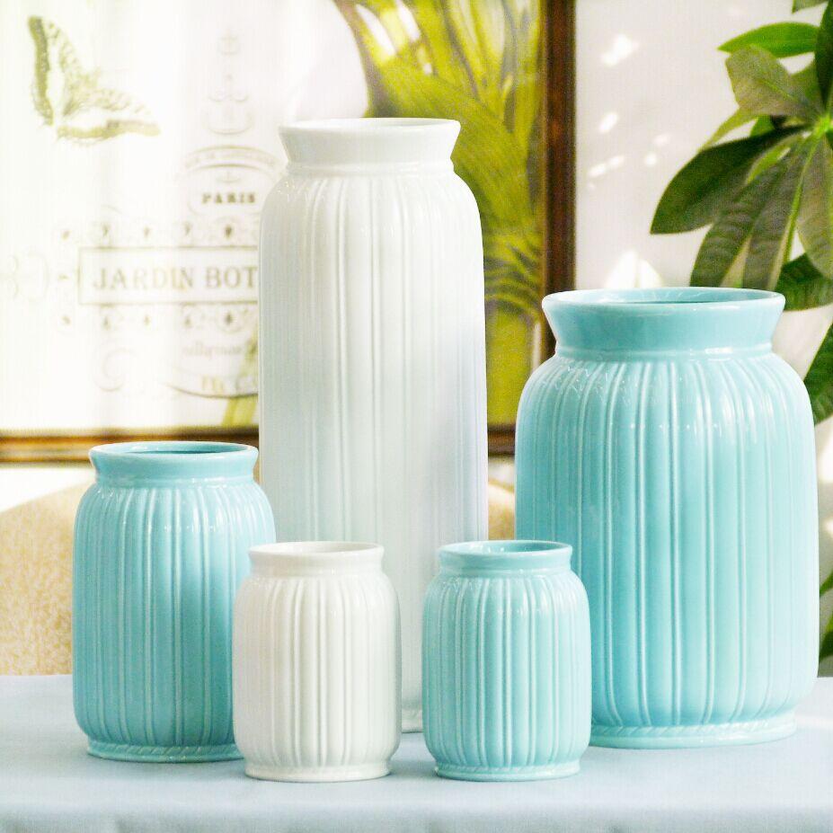 欧式陶瓷花瓶仿真花插花干花假花客厅花束摆设装饰花