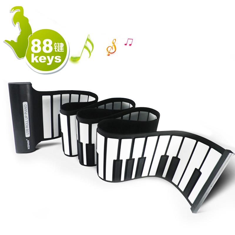 手卷钢琴61键88建加厚专业版创意实用特别生日礼物送小孩礼品特价