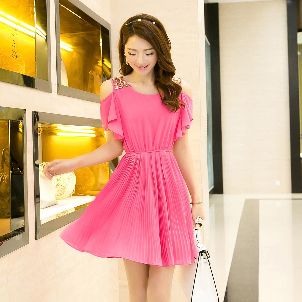 2014夏装新款 时尚专柜女装 枫之玲 051290夏装女装连衣裙