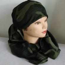 春夏季汗网巾 我是特种兵迷彩围巾军迷战术头巾户外透气丛林cs伪装