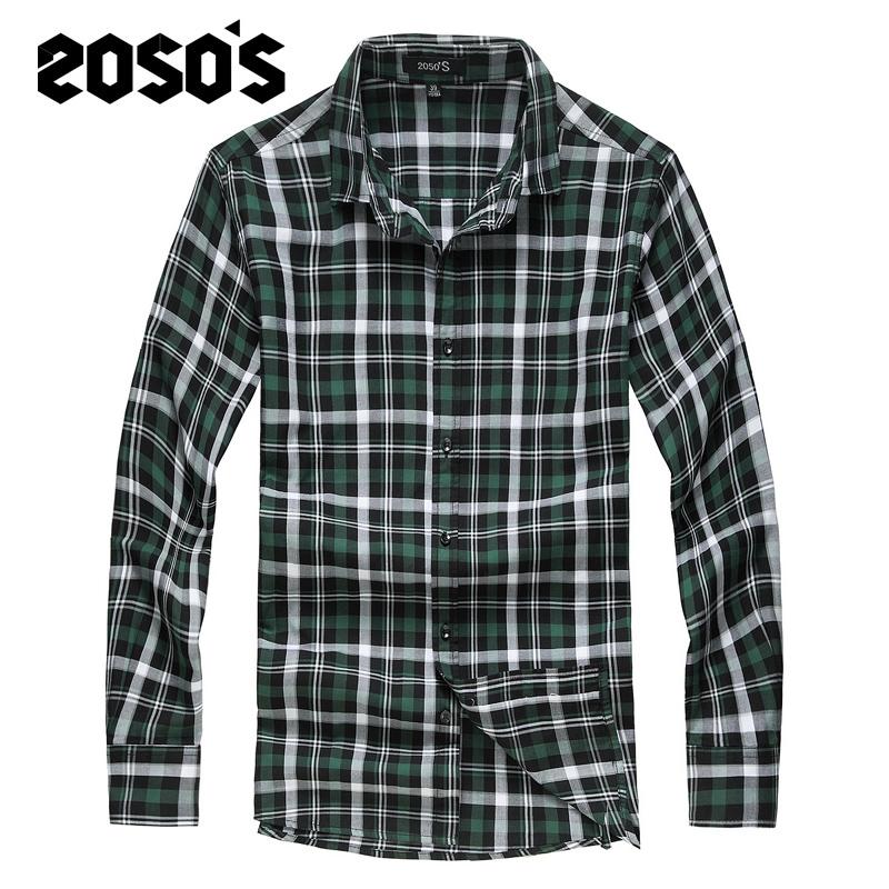包邮2014新款男装夏装韩版修身长袖夏英伦学院风经典格子衬衫衬衣