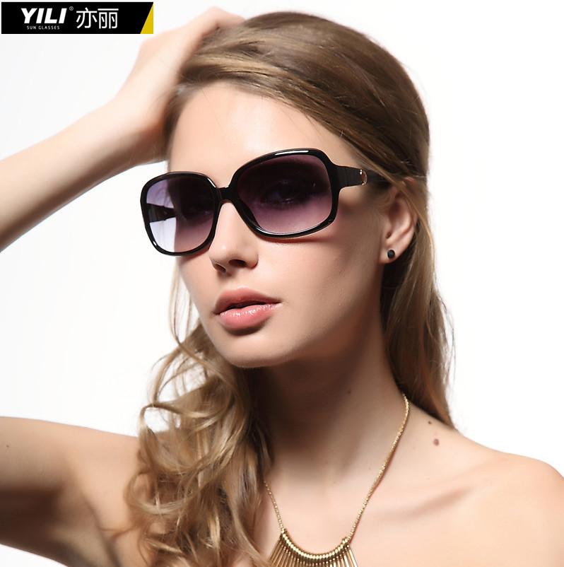 热销亦丽2014新款偏光女士太阳镜个性大框太阳眼镜复古墨镜