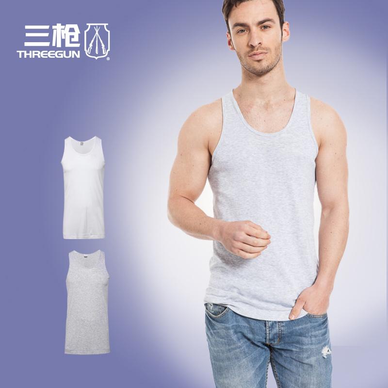 【2件包邮】三枪背心男士纯棉专柜正品弹力汗布宽松汗衫30141A0