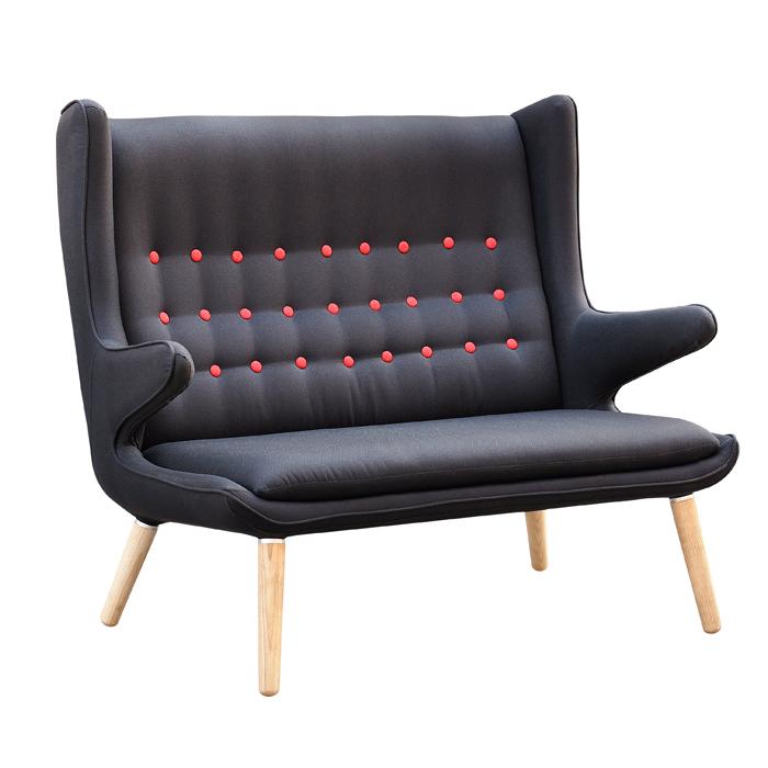 欧格贝思 新款设计师沙发椅 双人沙发 高档会所酒店休闲沙发座椅