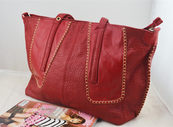【新款】牛皮女包 欧美风格女包 特价女包 包邮 拼接女包