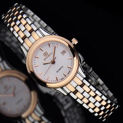 知时莹润精致石英机芯手表 女士正品时尚女表军旗韩版腕表