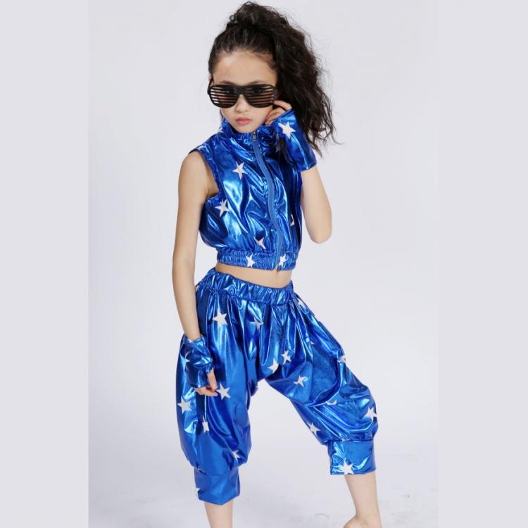 六一节儿童爵士舞表演服装男女童现代街舞台幼儿演出服套装舞蹈服