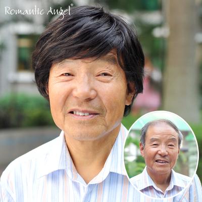 [倾情回馈] 真人发手织假发中老年男士头套短发自然黑