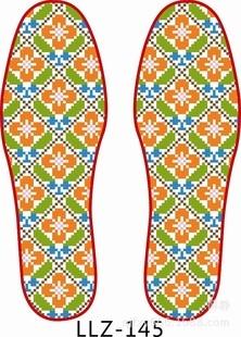 十字绣鞋垫  纯棉男女鞋垫  精准印花半成品鞋垫套件