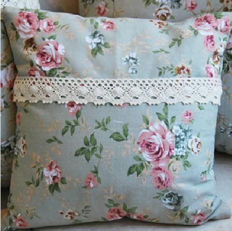 纯棉帆布田园抱枕靠枕欧式靠背套 天天特价同款 包邮