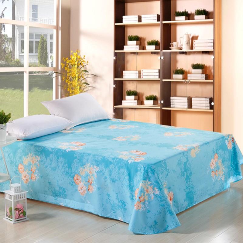 全纯棉1米1.2米1.35米1.5米1.8米2米床上用品床单A版B版两种花色