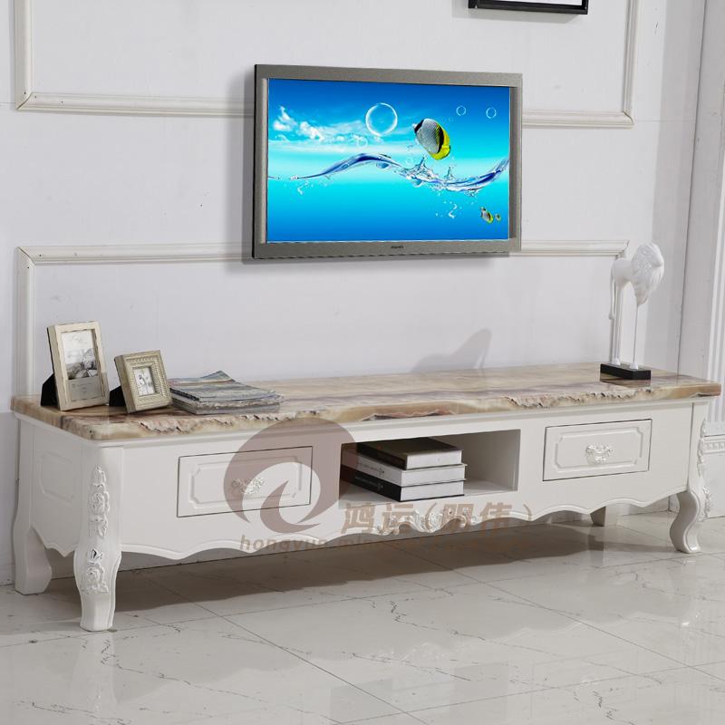 欧式大理石电视柜橡木电视柜雕花实木带抽屉组合茶几方几电视柜