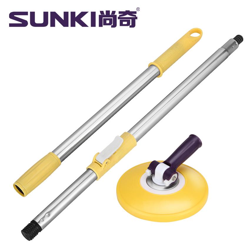 尚奇正品原装配件加粗加厚加长拖把杆加强杆套装(1杆+1塑料盘)