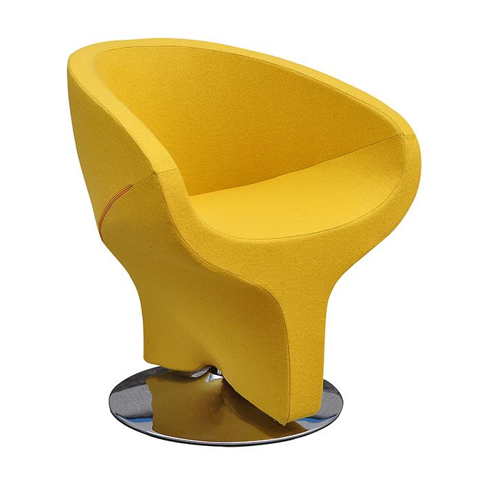 欧格贝思布艺转椅 沙发休闲椅 时尚单人创意懒人沙发椅 电脑椅