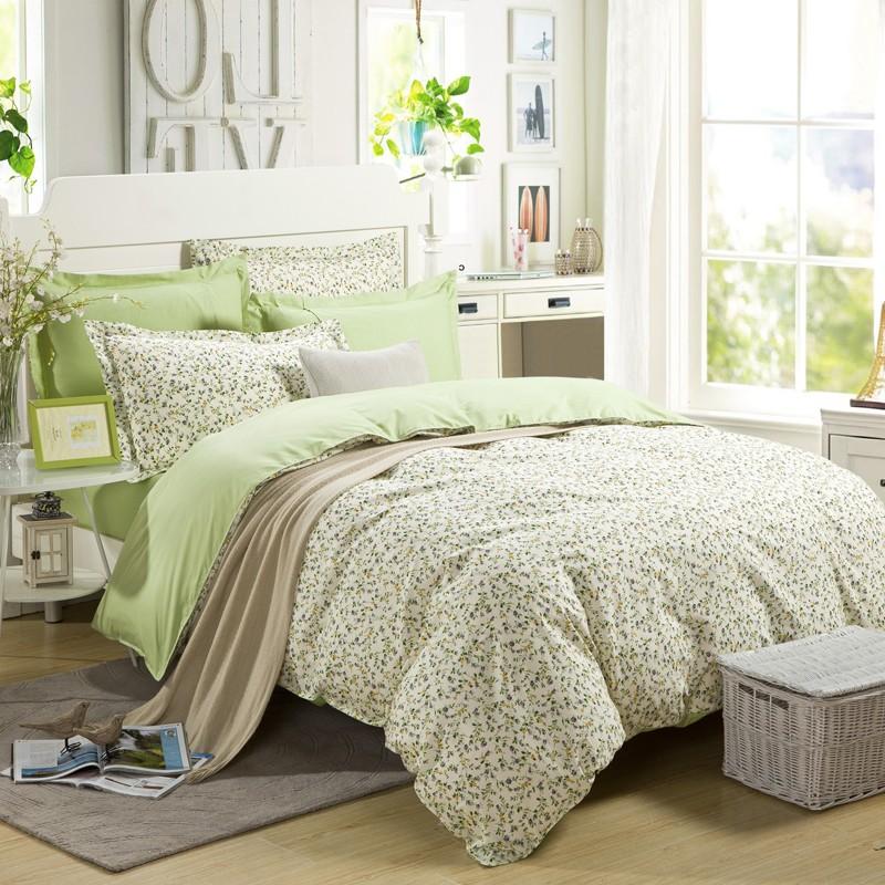 上仁100%全棉印花绿色系1米1.2米1.35米1.5米1.8米四件套新品包邮