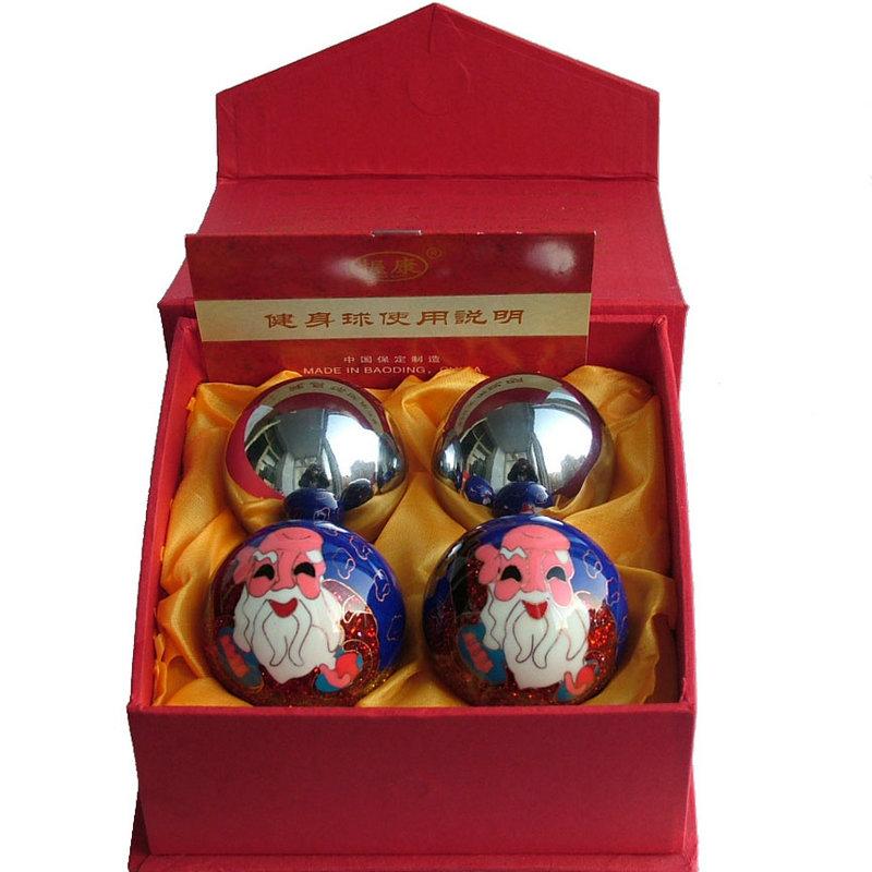 送老人生日礼物实用健康球保定铁球空心球景泰蓝寿星健身球手转球