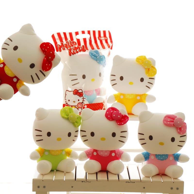 包邮正版hello kitty公仔kt猫咪泡沫粒子布娃娃创意情人节礼物