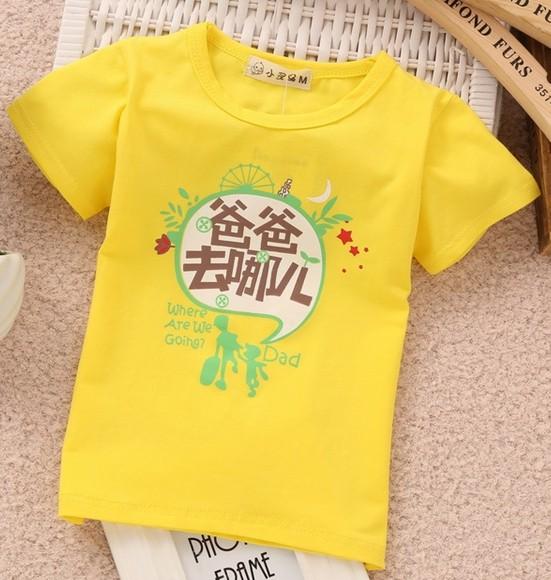 2015夏季童装T恤 莫代尔纯棉小童上衣t恤爸爸去哪儿了儿童短袖衫
