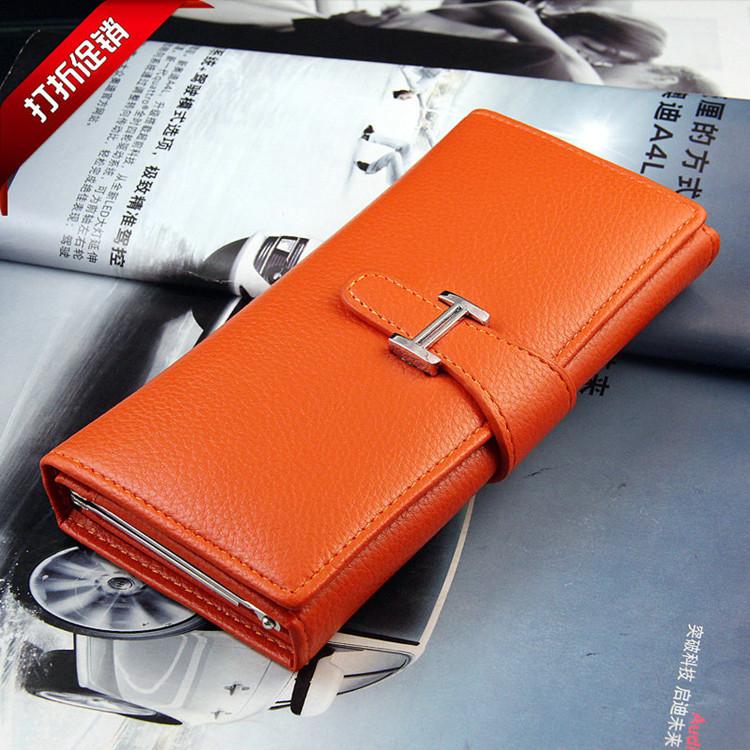 2014新款韩版女士钱包女中长款插卡式女士三折皮钱夹长款钱夹手包