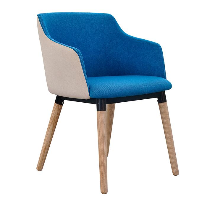 欧格贝思现代布艺餐椅 实木餐桌椅 时尚简约座椅  餐厅咖啡厅舒适
