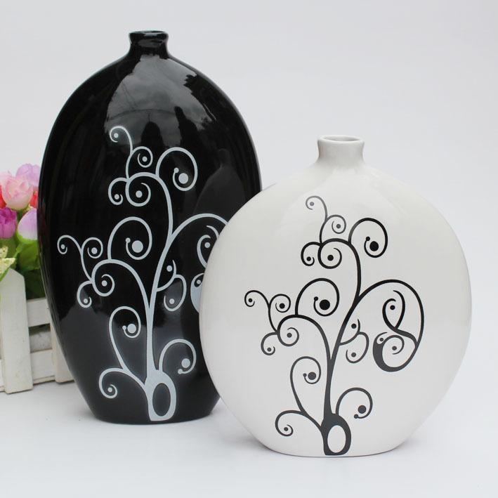 特价现代家居装饰品 陶瓷工艺品摆设 创意个性花瓶 摆件 结婚礼物