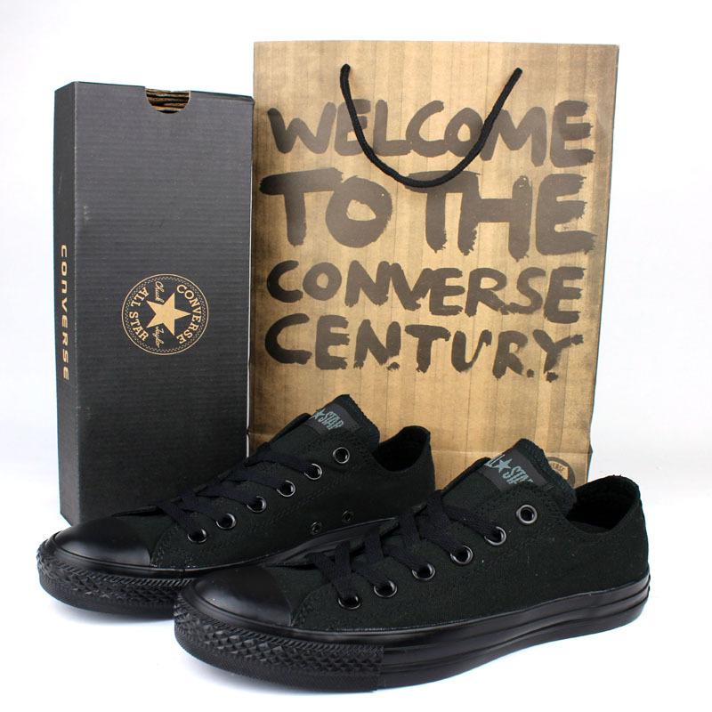 2015正品匡威女鞋男鞋经典款低帮帆布鞋正品专柜情侣鞋黑色1Z632