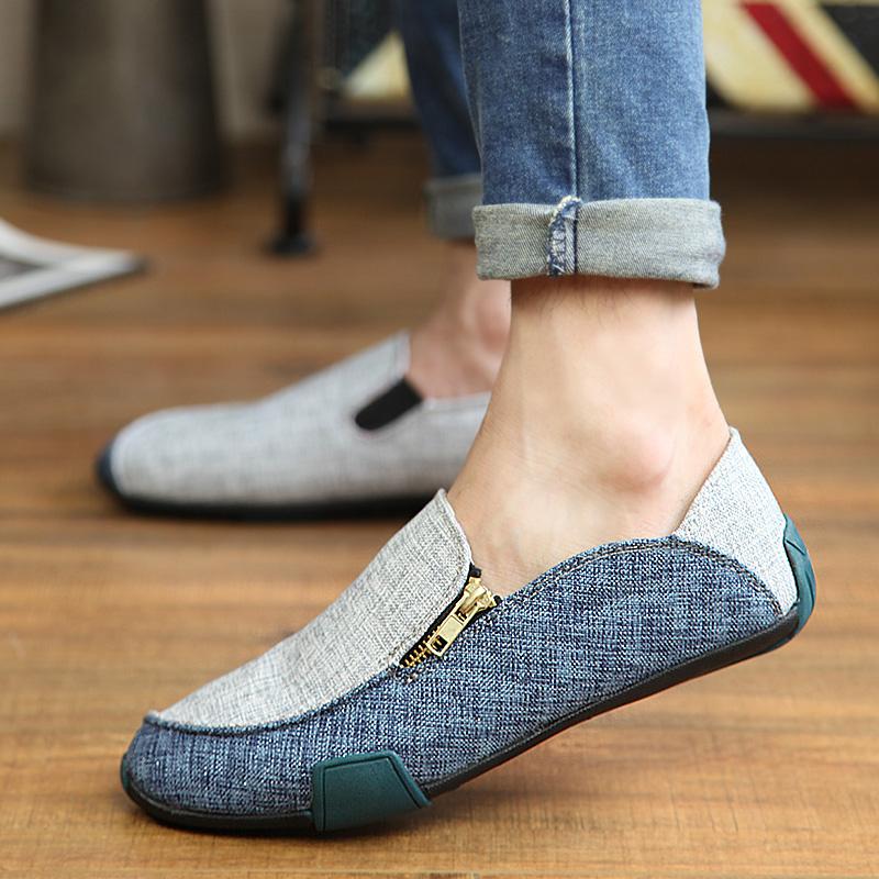 男士布鞋2014新款夏季亚麻布鞋男鞋休闲帆布鞋男款一脚蹬懒人鞋