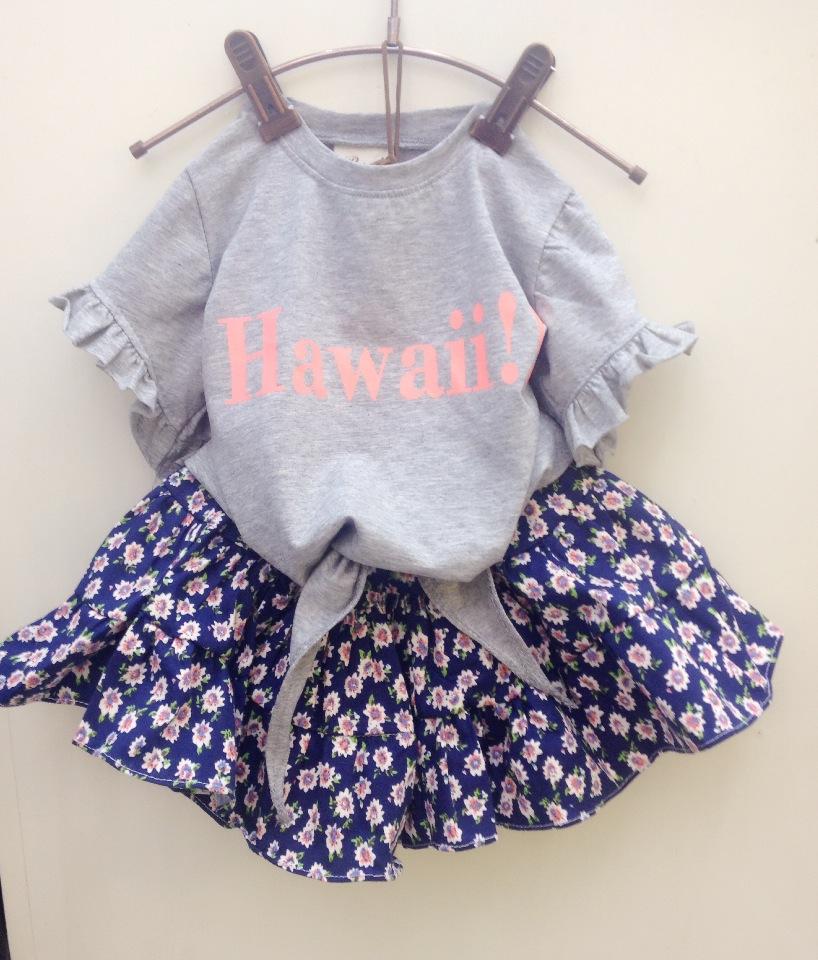 女童木耳边短袖棉质T恤2014夏装新款韩版潮儿童宝宝时尚上衣T