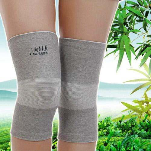 正品竹炭保暖护膝 夏季透气超薄跑步篮球运动护膝 男女老年人护腿