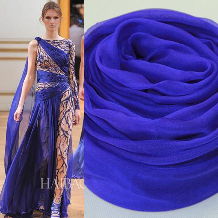 丝巾长款春秋女士真丝披肩两用超长冬超大100%桑蚕丝围巾深宝蓝色