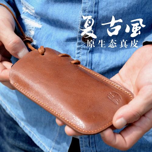魅族MX4真皮保护套 MX3手机牛皮包袋 复古风直插式抽拉绳保护袋