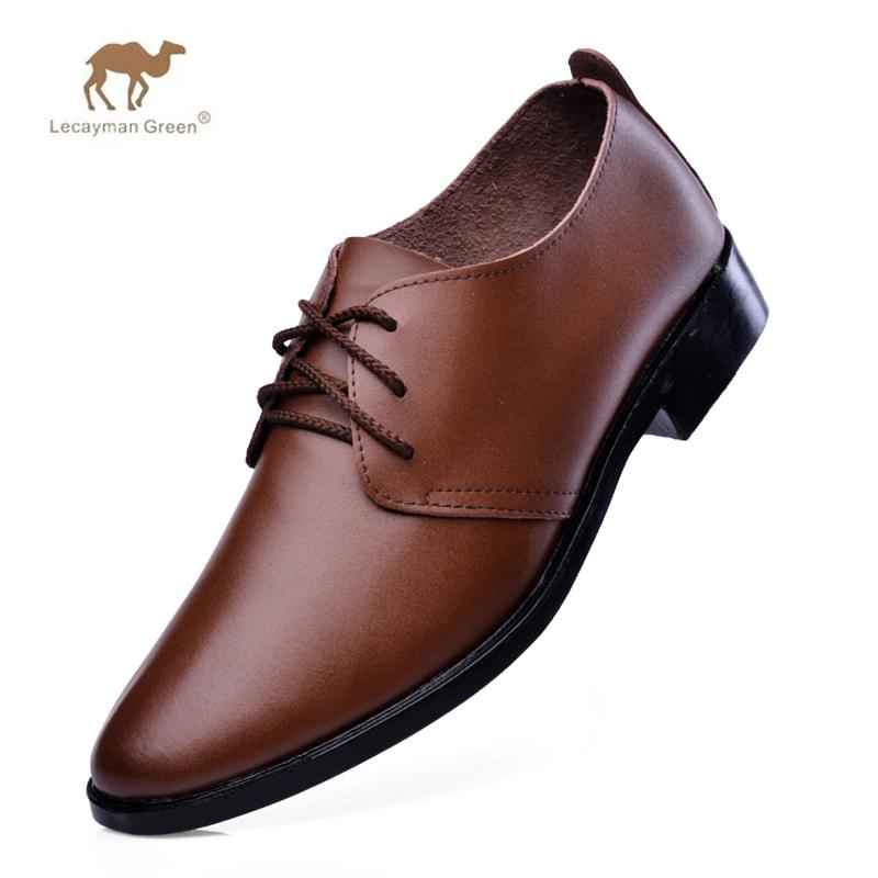 2014冬季新款男士真皮鞋正品骆驼王英伦时尚商务休闲鞋透气单鞋男