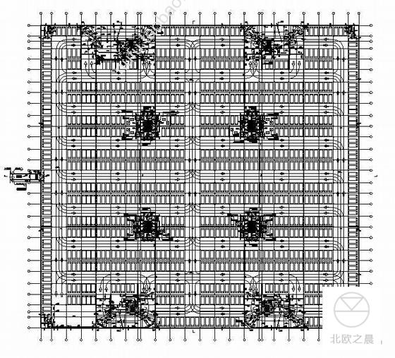 某超大地下车库CAD设计建筑施工图纸