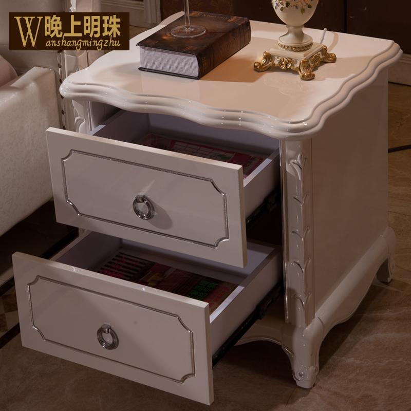 欧式太子床床头柜 时尚宫廷奢华型床头柜 实木床头柜 搭配