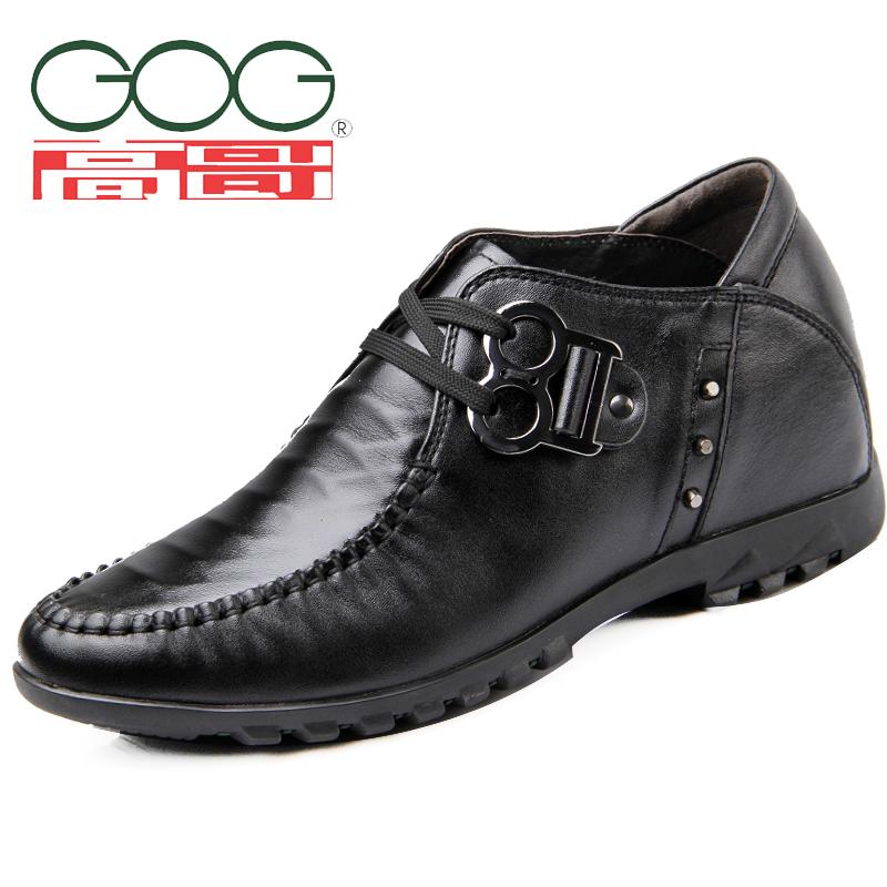 高哥增高鞋2014新款男鞋男式休闲7cm厘米隐形内增高男士真皮54590