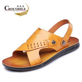 鳄鱼恤凉鞋夏季新款户外休闲沙滩鞋防滑透气凉鞋休闲凉鞋露趾男鞋