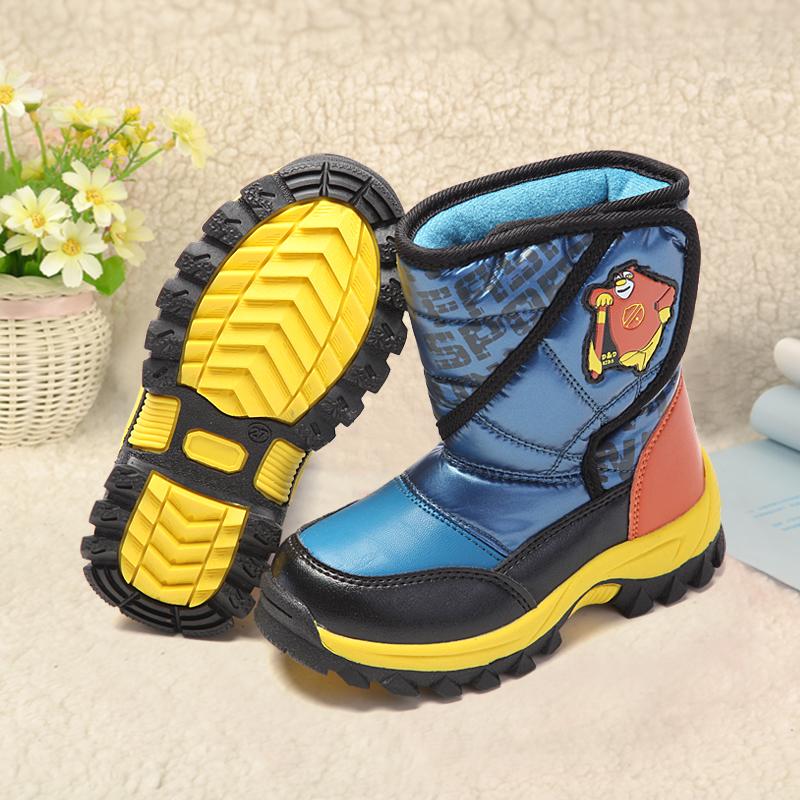 小叮当专柜正品 秋冬男女童靴 舒适保暖冬季棉靴 时尚儿童雪地靴