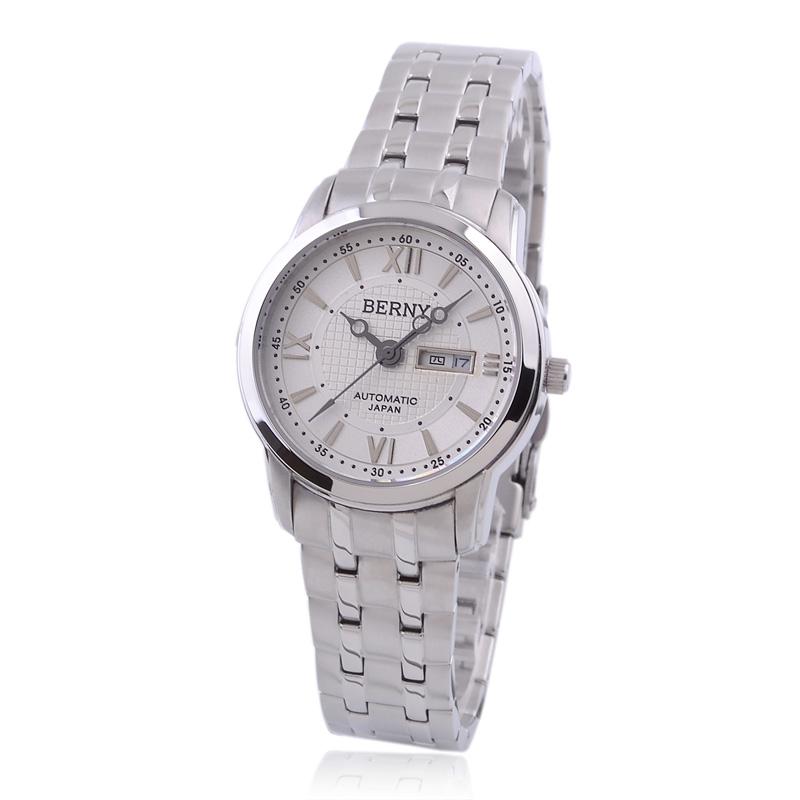正品BERNY伯尼女表 全自动机械表 钢带 女式手表 AM019女士手表