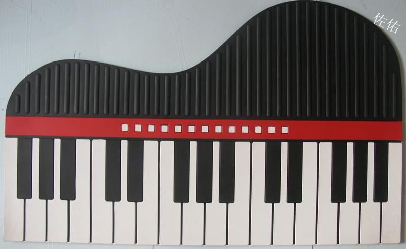 钢琴键盘地垫美式地毯门垫硅胶欧式客厅地毯地垫防尘
