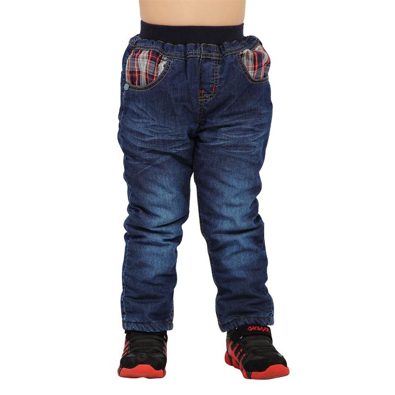 杰米小熊2014冬装新品男童牛仔裤加厚加棉长裤男小童冬裤保暖时尚