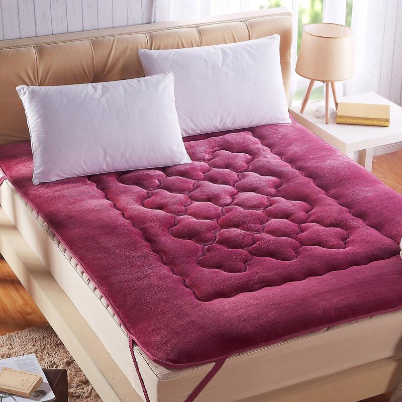 忆满庭家纺 法兰绒法莱绒床垫 席梦思保护垫 学生宿舍单人床护垫