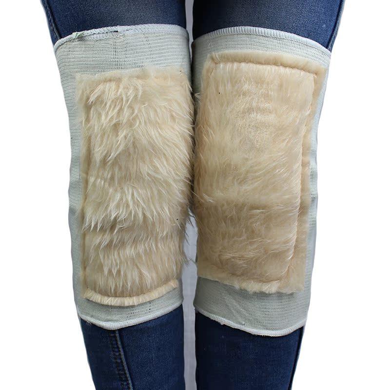 抗风湿防关节炎超保暖 防寒羊毛绒护膝长毛护膝弹力护膝