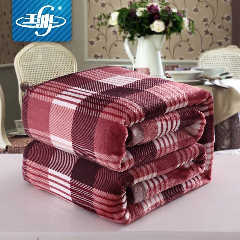 玉沙珊瑚绒毛毯加厚双人加大款法兰绒毯子床单冬季法莱绒盖毯特价