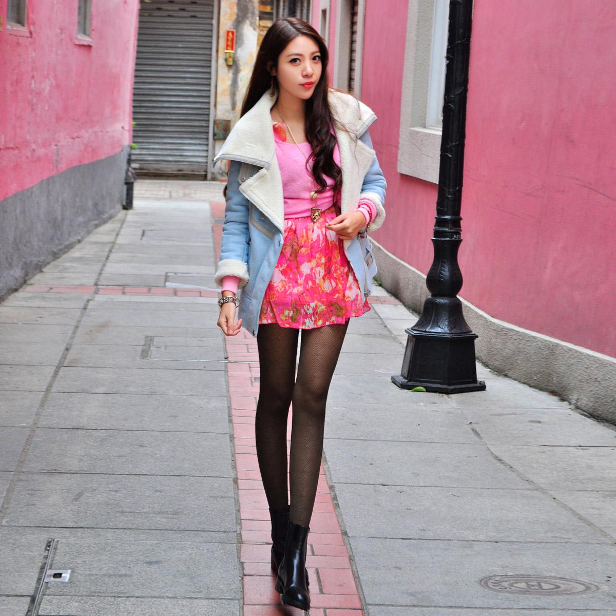 T-Baby韩版2014冬装新款女装廓形毛呢外套大衣中长款加厚加绒翻领